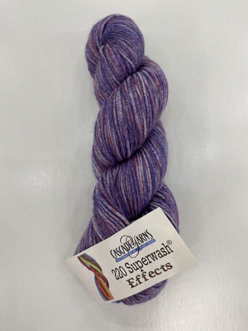 A bundle of purple yarn
