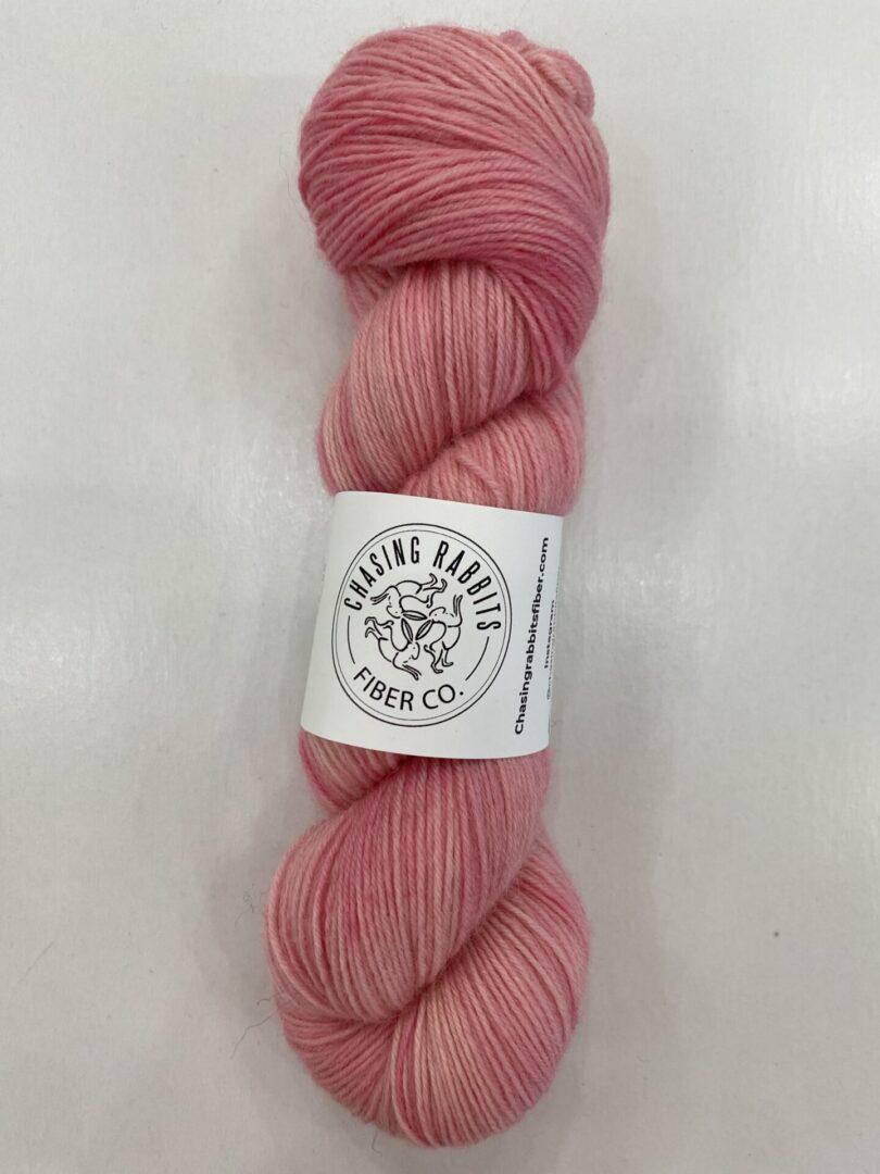 A pink yarn