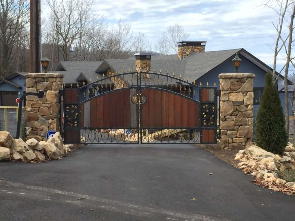 Residential aluminum gate operator - Fence Scapes, Asheville, NC