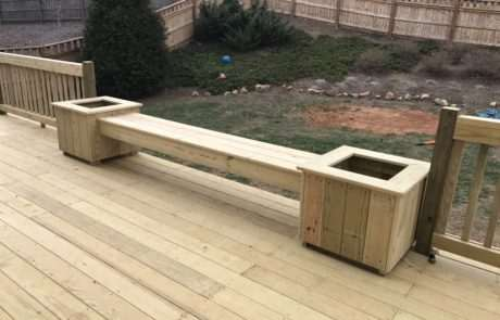Wood planters, Fence Scapes, Asheville, NC