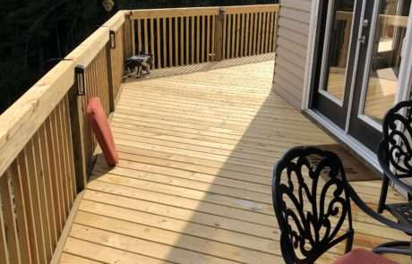 Wooden side decking, Fence Scapes, Asheville NC
