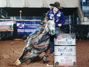 TS Shake em Tex Futurity, Open & Rodeo Money-earner, 3rd in round A BFA Juvenile