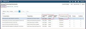 Manage Processing Constraints - Oracle ERP Cloud   Tangenz Corporation