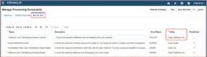 Record Set - Oracle Order Management Cloud   Tangenz Corporation