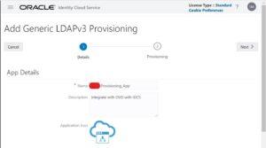 Setup Generic LDAP V3 Application - Oracle IDCS | Tangenz Corporation