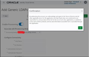Provisioning Bridge - Oracle IDCS
