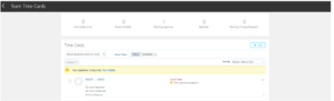 Oracle HCM Cloud - Change Manager view of Time card approval