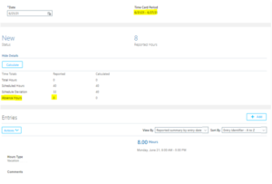 Oracle HCM Cloud: Absence entry integration with Time card page