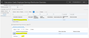 Employee Earnings Distribution Overrides | Oracle HCM
