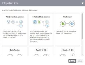 Integrations pane | Oracle ERP Cloud