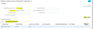 Configure the Customer Account for the Trading Partner in Collaboration Messaging