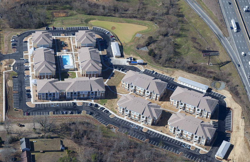 Watercourse Apartments - Aerial View