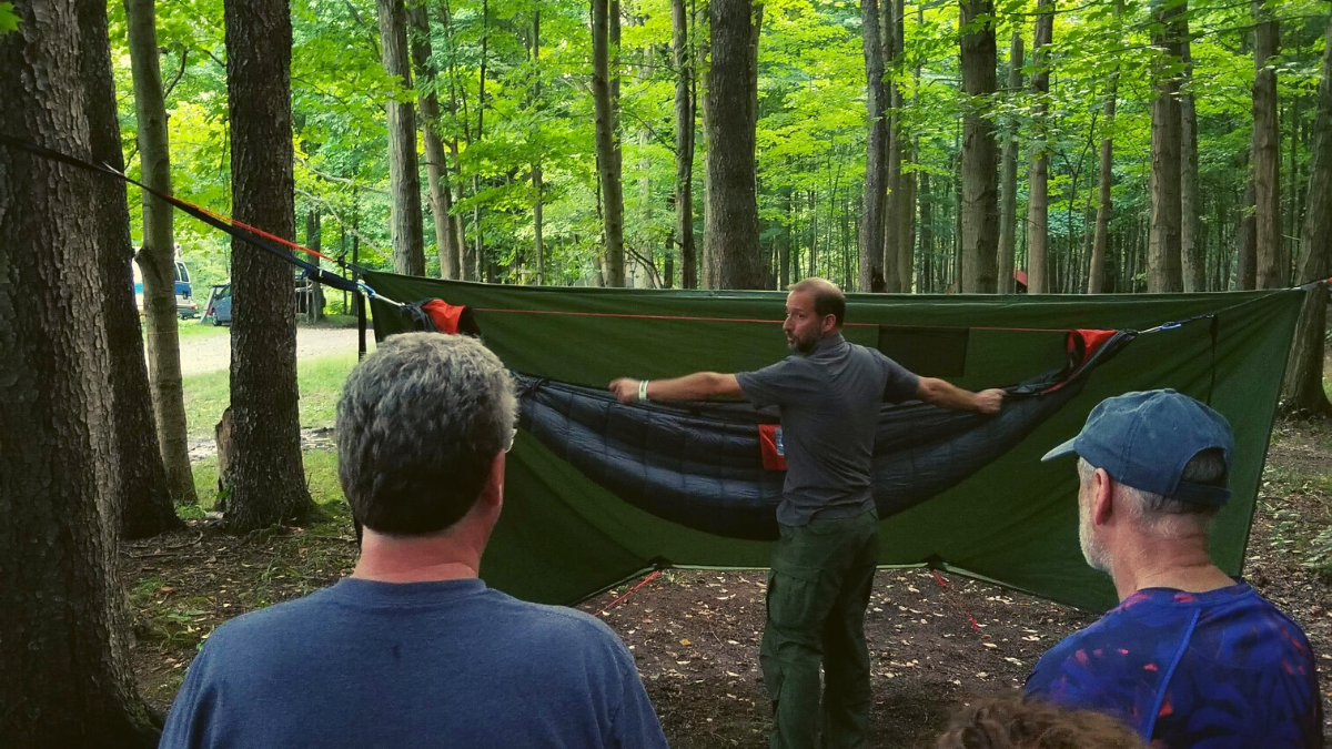 Intro Hammock Camping Workshop with Shane Stoehr at Great Rhythm Revival