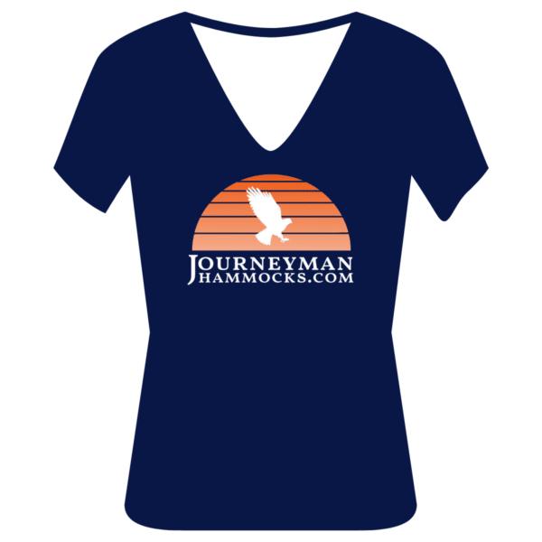 Vintage Journeyman Hammocks Women's Tshirt Orange (V-Neck)