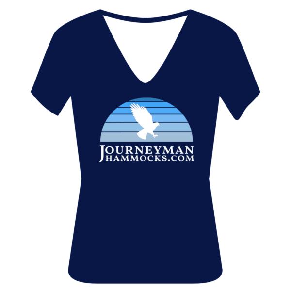 Vintage Journeyman Hammocks Women's T-Shirt Blue V-Neck