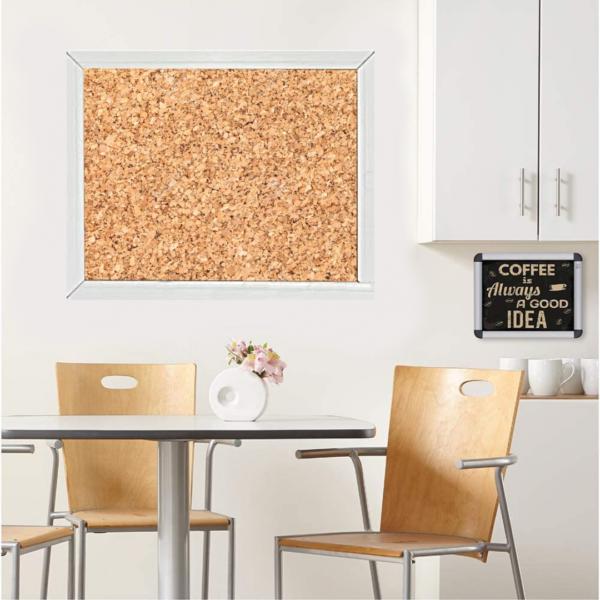 Cork Bulletin Board In Breakroom