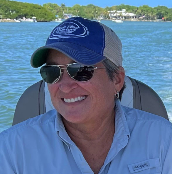 Captain Peggy Frazier relaxing