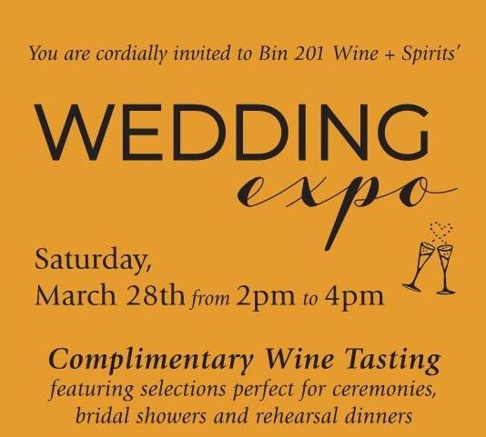 Bin 201's Wedding Expo Cancelled