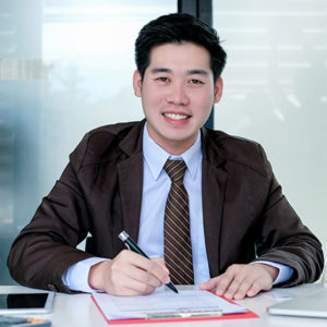 Executive at desk