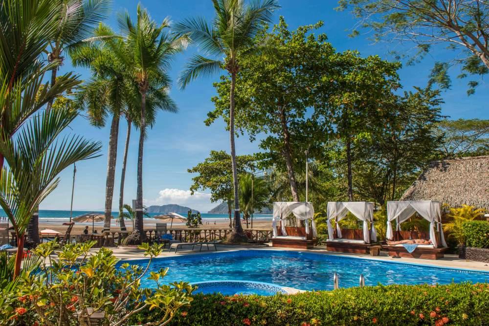 cabanas at pool