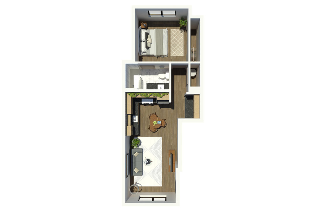 M63 1B1B 3D Floor Plan