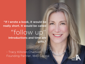 Female Founders Alliance – Investors, Innovators, Influencers – Tracy Killoren Chadwell, 1843 Capital