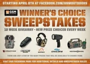 GSM Outdoors Announces Winner's Choice Weekly Giveaway