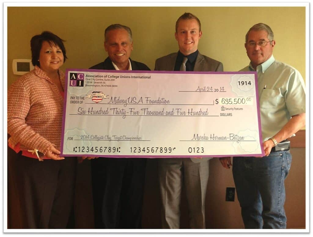 MidwayUSA Foundation Receives ACUI Clay Target Championship Donation