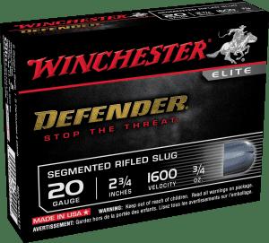 Winchester Defender 20 Gauge Segmenting Slugs