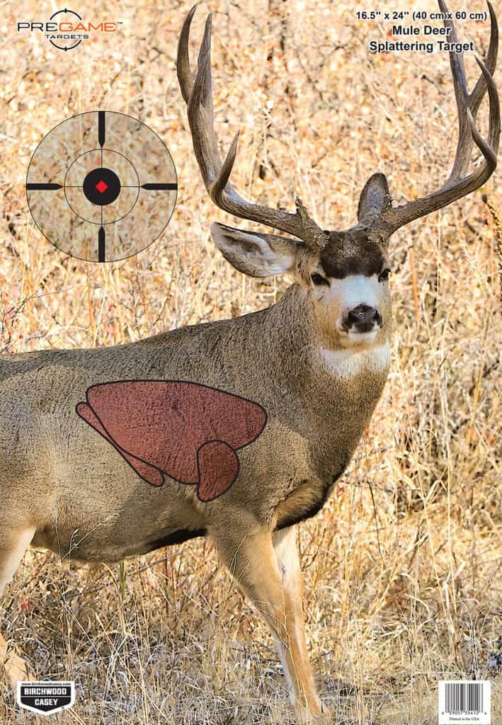 Birchwood Casey Pregame Mule Deer Target