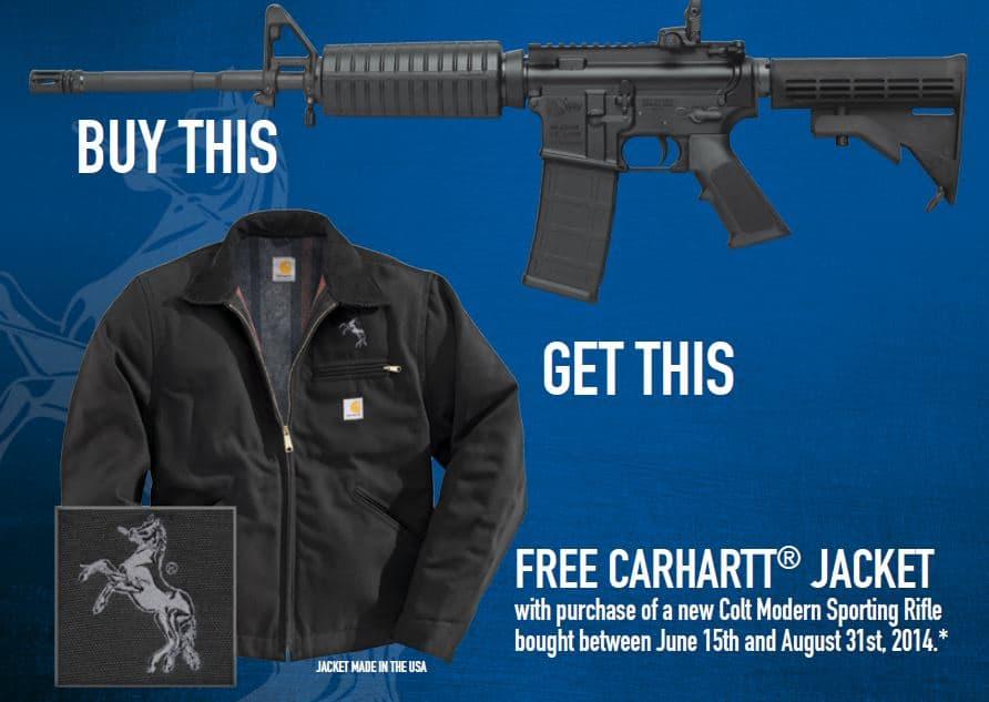 Colt Carhartt Jacket Promotion