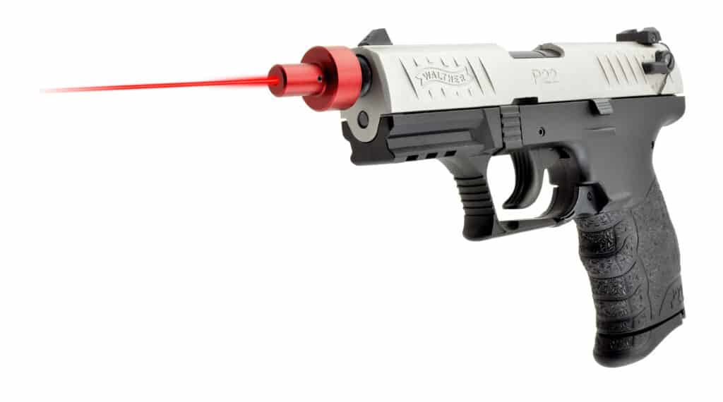 LaserLyte LT-LR Laser Trainer Mounted on Walther P22