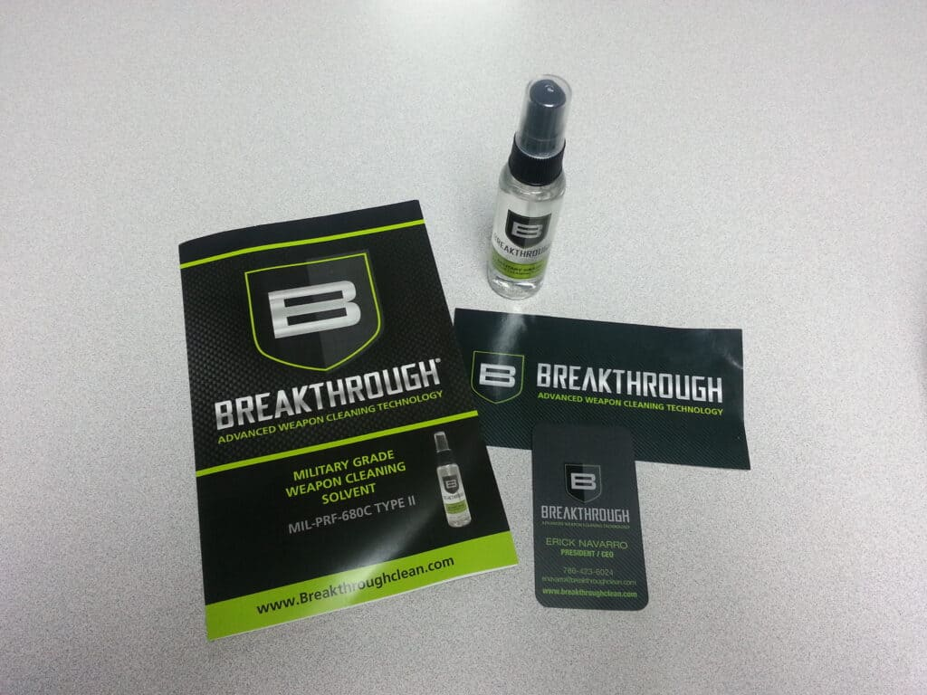 Breakthrough Weapon Cleaning Solvent