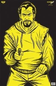 Birchwood Casey 37035 Eze-Scorer Bad Guy - Black-Yellow