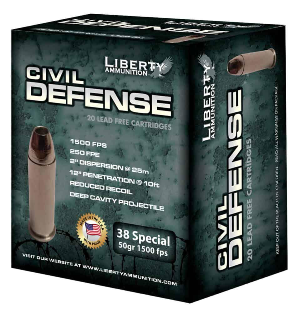 Liberty Ammunition .38 Special Civil Defense Ammo