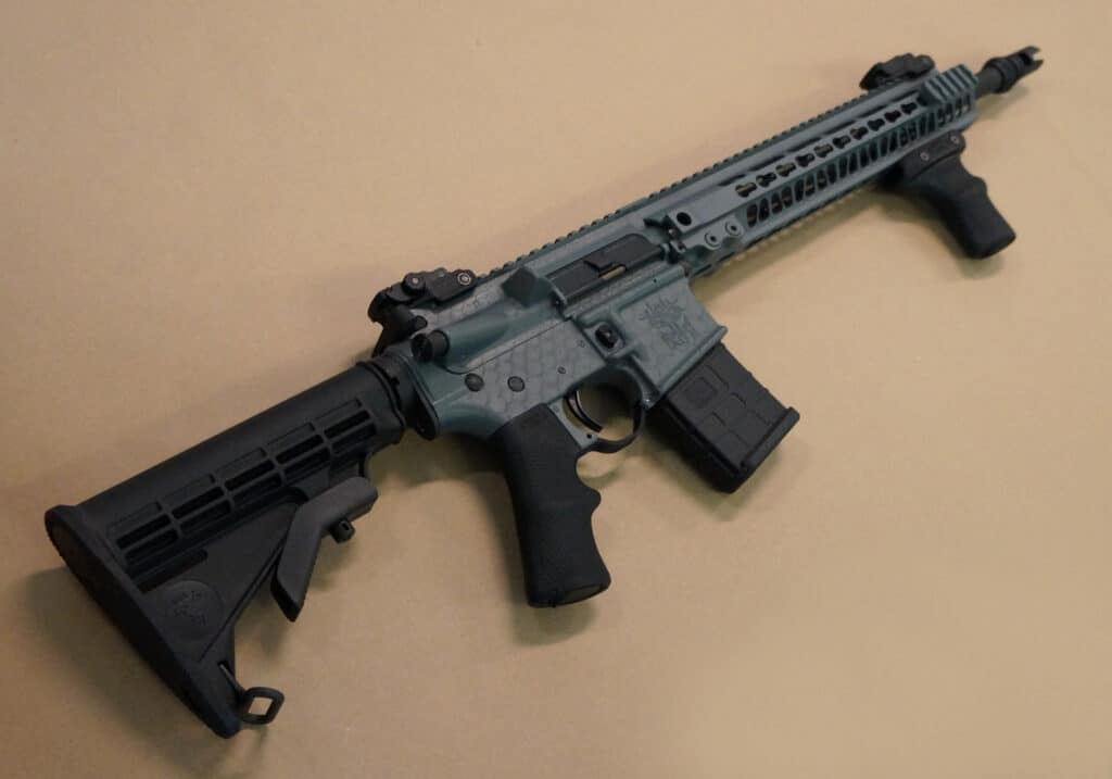 AB Arms SBR PGrip Mounted