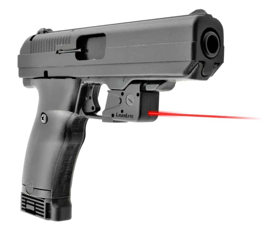 LaserLyte UTA-HAB mounted on Hi-Point .45 ACP