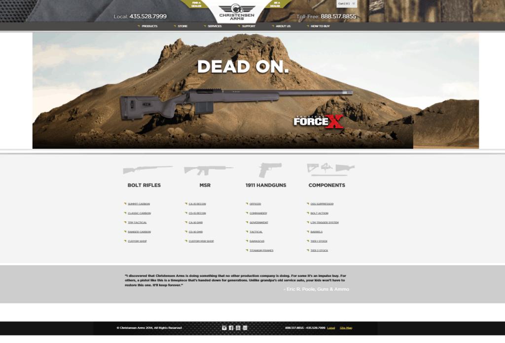 Christensen Arms New Website