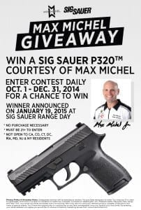 Max Michel Sig Sauer P320 Carry Giveaway