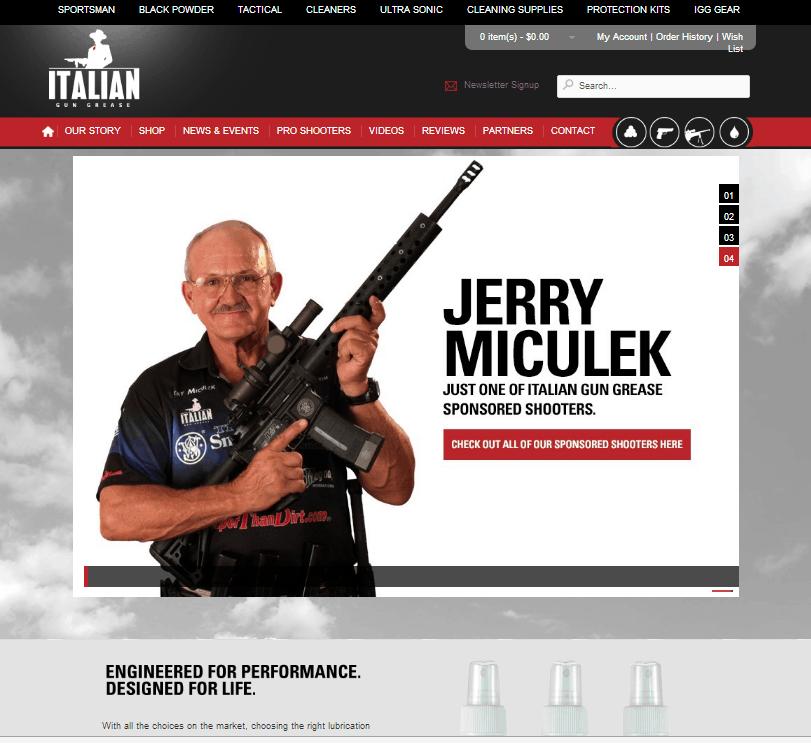 Italian Gun Grease Homepage