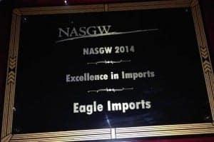 Eagle Imports NASGW Award