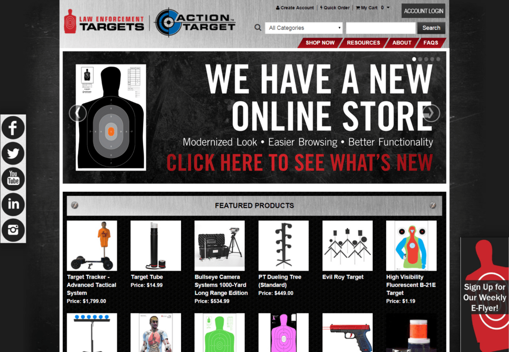 Action Target Online Store