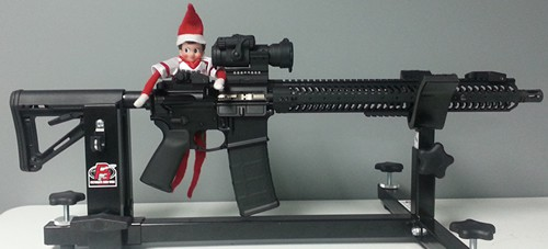 Elf with AR-15 Rifle