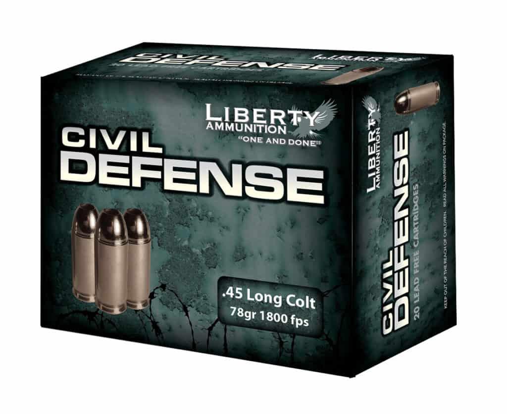 Liberty Ammunition Civil Defense 45 Long Colt Ammo