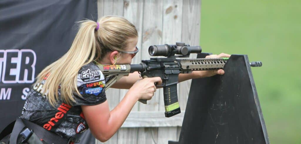 Heather Fitzhugh at Bushmaster Tarheel 3-Gun Challenge