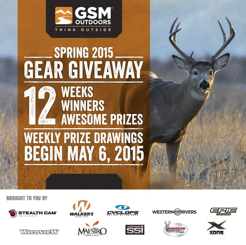 GSM Outdoors Spring Gear Giveaway