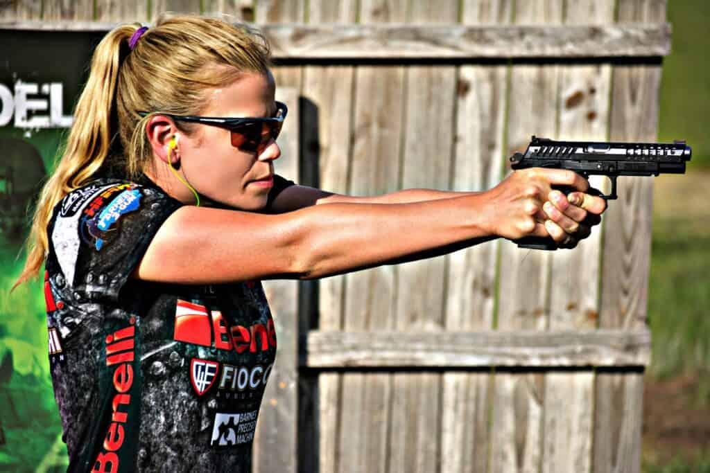Heather Fitzhugh Shooting Grand Power X-Calibur