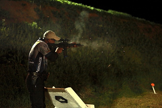 Greg Jordan with Armalite M-15 3-Gun Rifle