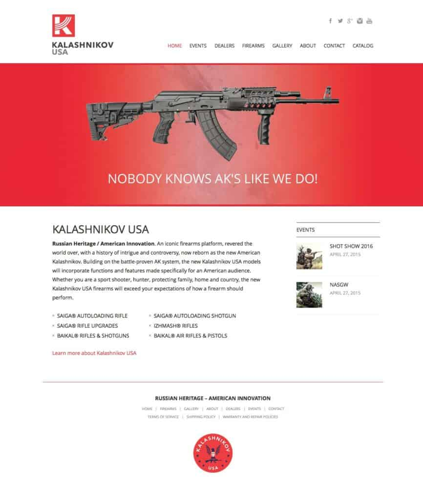 Kalashnikov USA Home Page