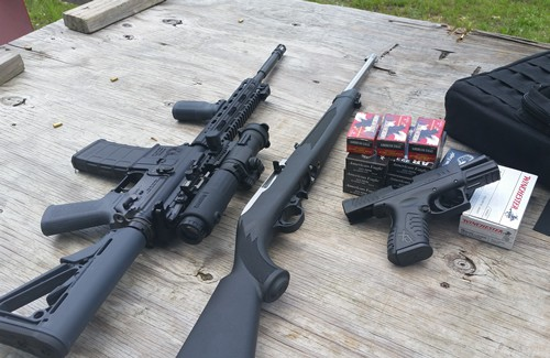 Ruger 10-22 and VPS-15 with Samson Magnifier and Aimpoint Pro